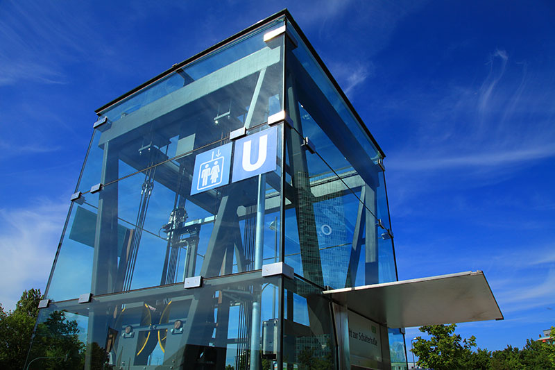 Glas eckig 4